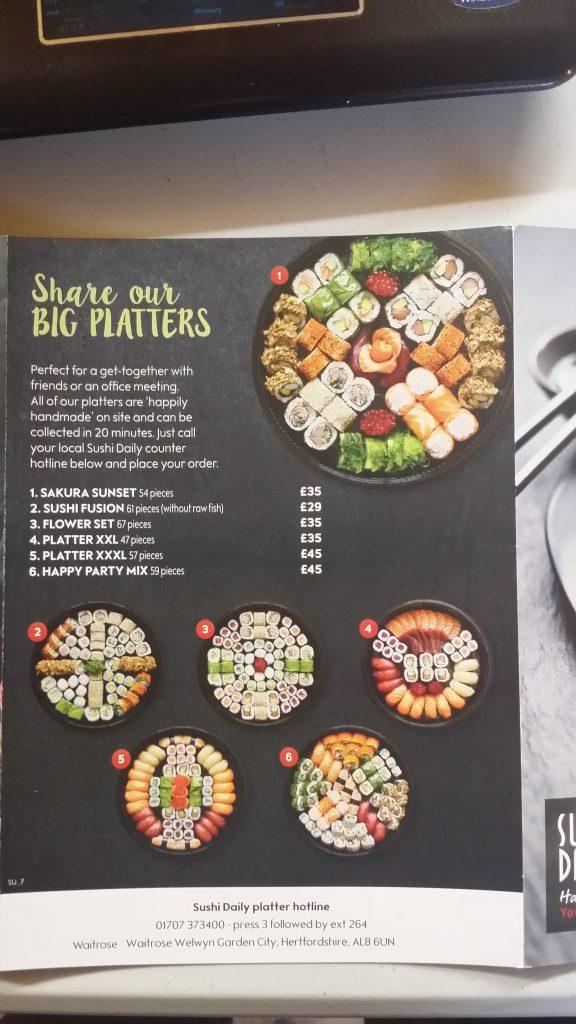 Corporate Catering From Waitrose Wgc Sushi And Sashimi
